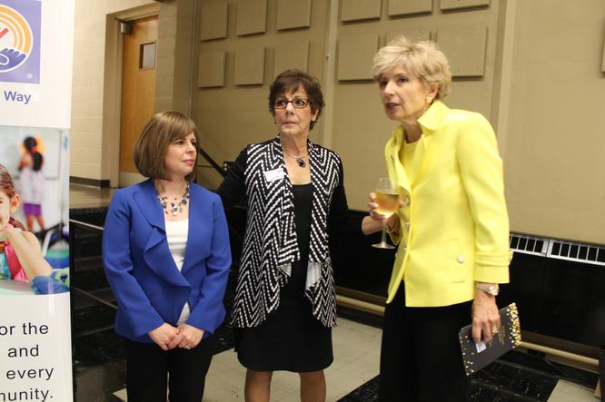 Christa, Patti and Denise Richardello, Executive Vice President MCLA