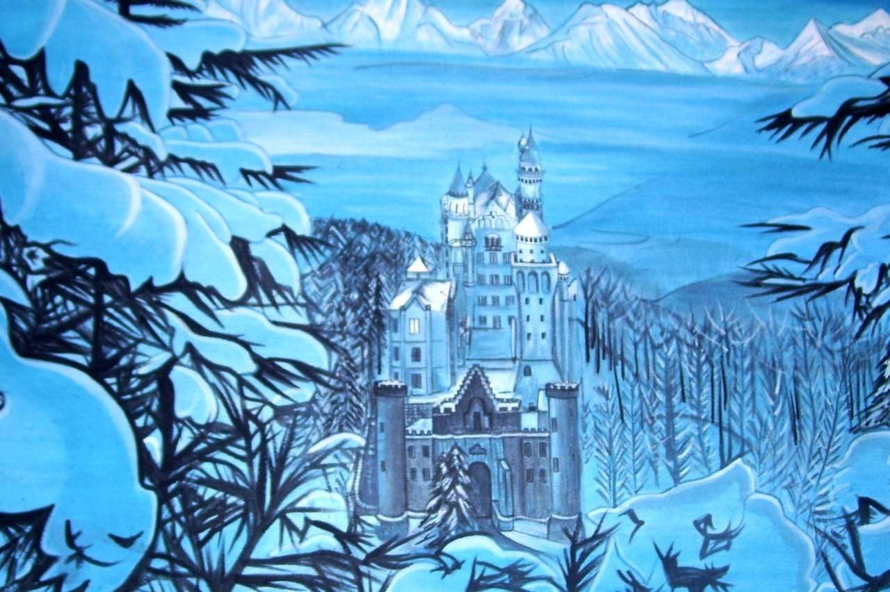 German castle 5x6ft