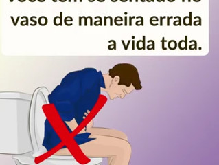 Você tem sentado de maneira errada no vaso sanitário a vida toda, mude já!