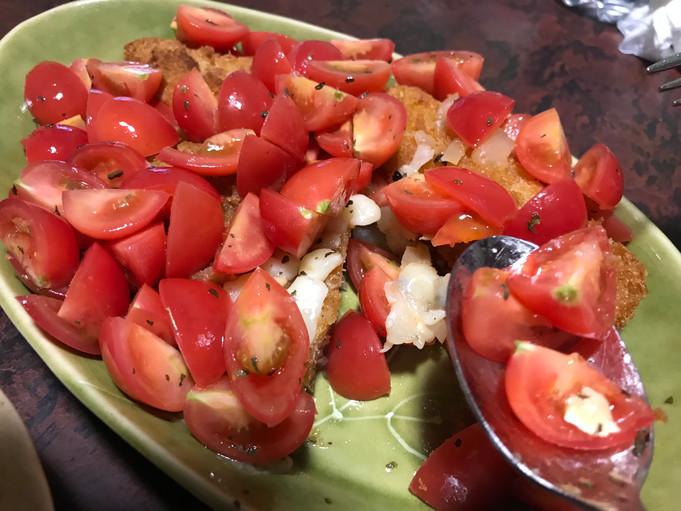 【レシピ】カツとさっぱりフレッシュトマトソース