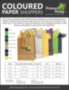 Paper Shoppers COLOURED Bag Price List 4