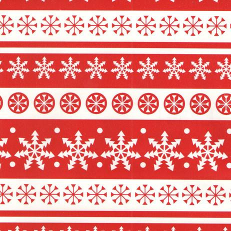 L2801 Red White Snowflakes