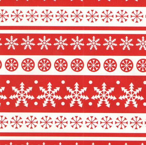 L2801 Red White Snowflakes