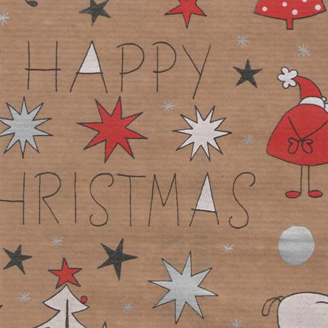 Z4898 Happy Christmas Kraft