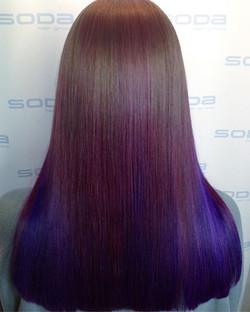 💜💜💜 Purple colour melt done by Katie!