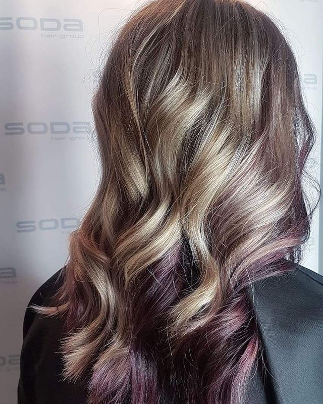 Purple peekaboo! By Rachel #purple #soda