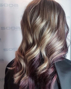 Purple peekaboo! By Rachel #purple #soda