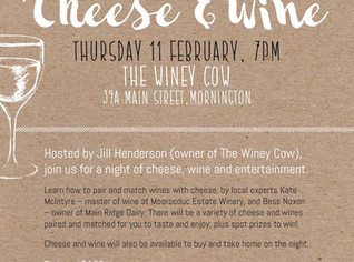 AN EVENING OF CHEESE & WINE