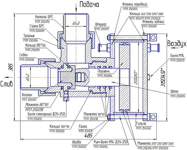 Схема ДЗУ-250