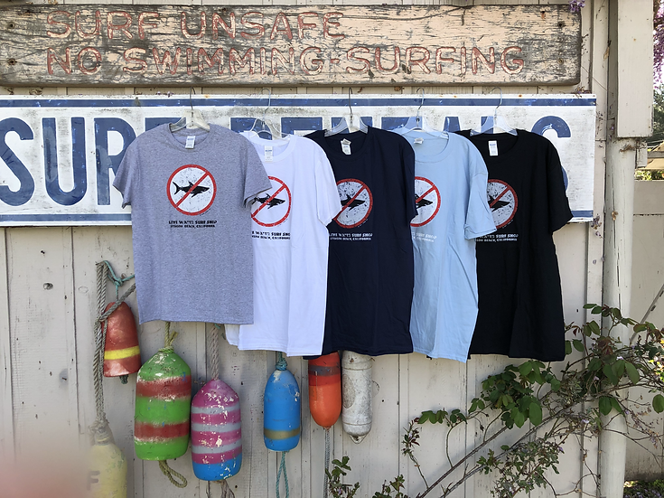 Adult No Sharks T-shirt