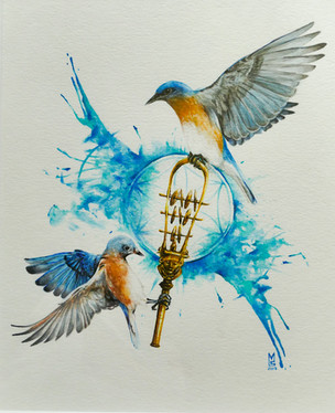 Bella's Bluebirds & the sistrum of Hathor