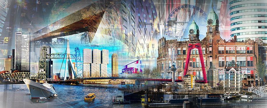 Vooraanzicht Compilatie schilderij Rotterdam