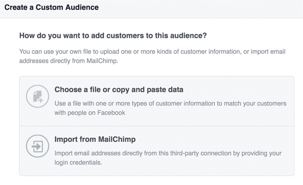 how to upload facebook audience