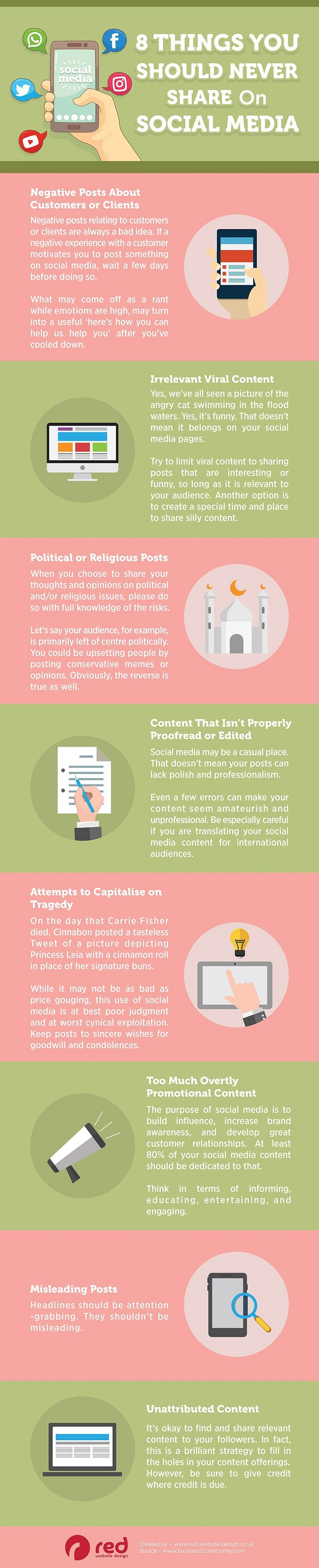 8 Things You Should Never Share on Social Media [Infographic]