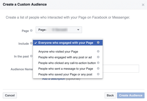 interacted with your business on Facebook