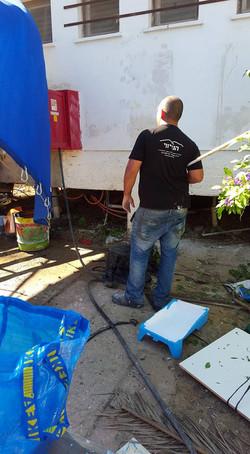 שיפוץ בית הילדים בקיבוץ מפלסים בהתנדבות 4