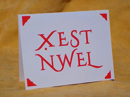 Xest Nwel Christmas card script