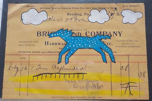 Ledger Art Blue Pony