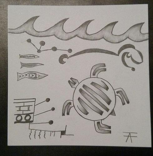 """Seeking True Paths"" Pencil Drawing."
