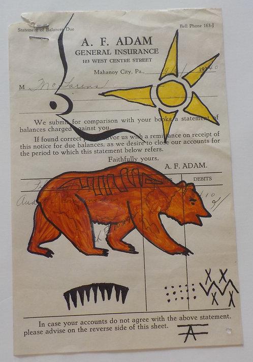 Ledger Art Sun Bear