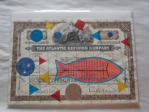 Ledger Art Pink Fish and triangles