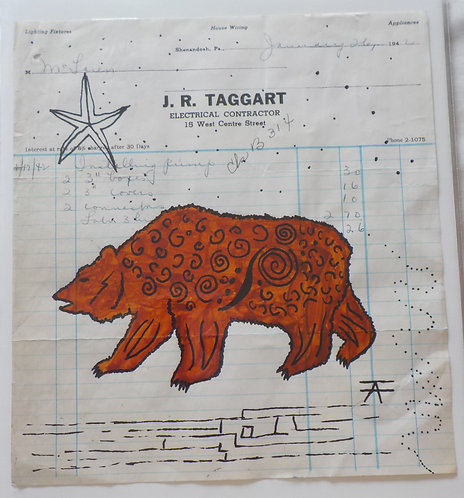 Ledger Art Curly Bear
