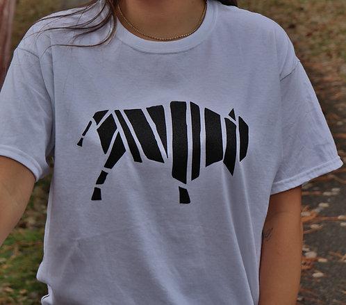 T-Shirt White, Black Buffalo