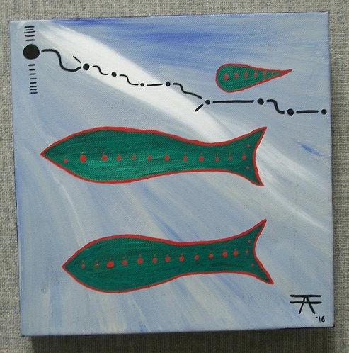 Painting Green Fish