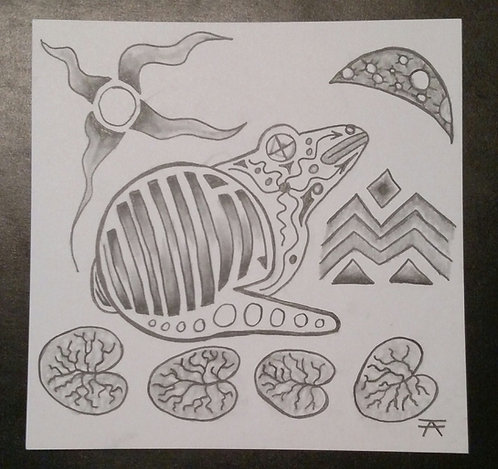 Star Frog Pencil drawing