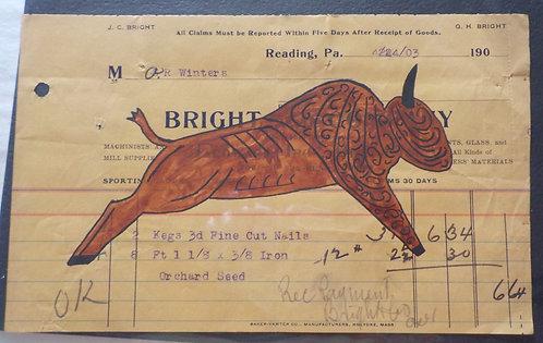 Ledger Art Bright Buffalo