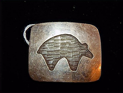 Inlay Bear pin