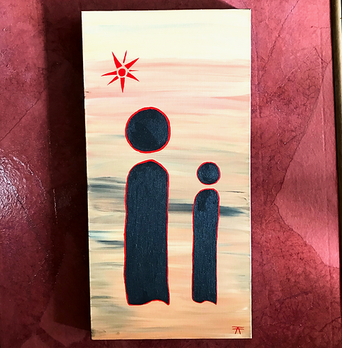 """""""The teacher and student"""" painting"""