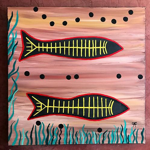 Painting 2 Black Fish