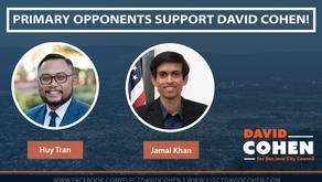 Huy Tran and Jamal Khan Endorse David