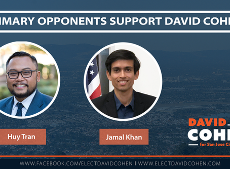 Huy Tran and Jamal Khan Endorse David