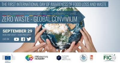 Giornata contro lo spreco alimentare, arriva la maratona virtualeZero Waste Global Convivium