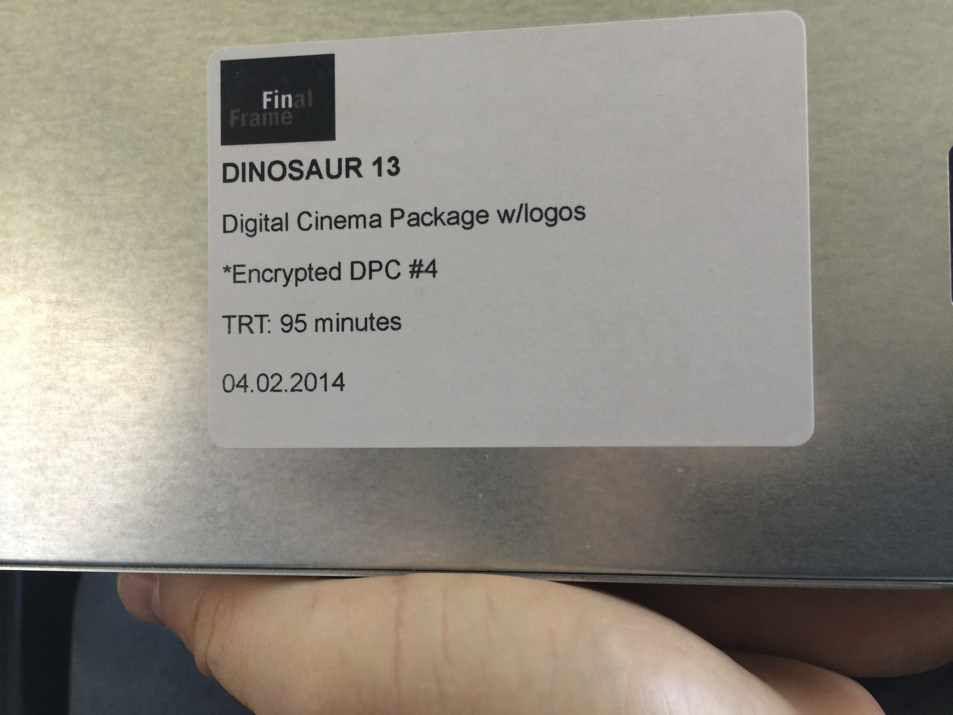 Dinosaur 13 - original cut.