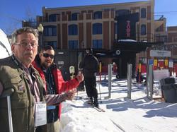 NOT skiing at Sundance.