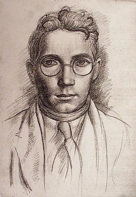 Self-portrait Crayon, Stanley Lewis, c.