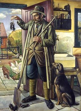 The Welsh Molecatcher Oil on canvas, Sta