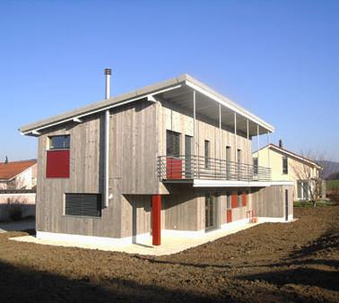 Consctruction d'une villa en bois