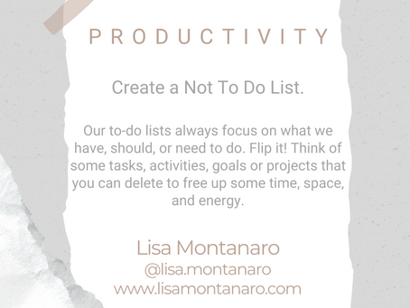 #WIPMondays: Productivity with Lisa Montanaro