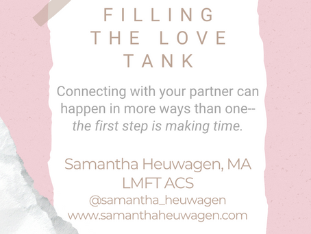 #WIPMondays: Filling the Love Tank, with Samantha Heuwagen