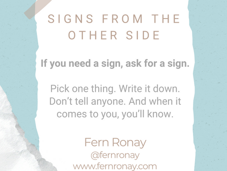 #WIPMondays: Signs from the Other Side with Fern Ronay