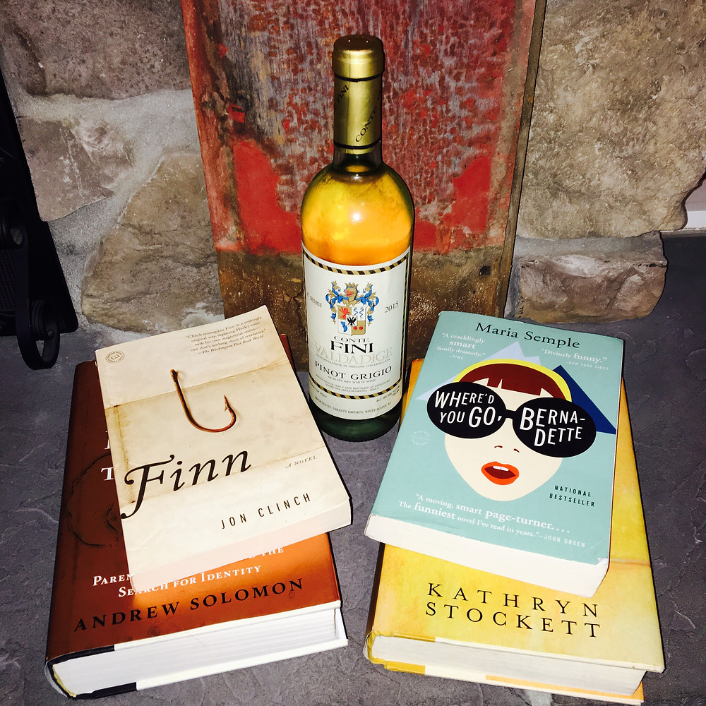 Book club books to go with the wine.
