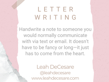 #WIPMondays: Letter Writing with Leah DeCesare