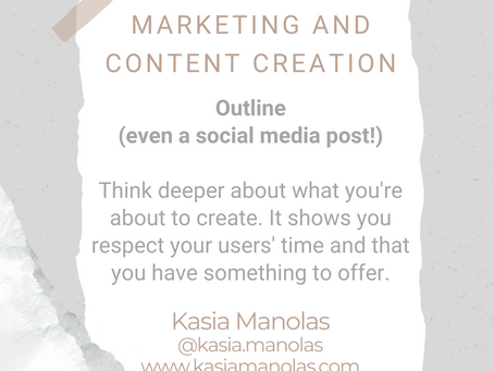 #WIPMondays: Marketing and Content Creation with Kasia Manolas