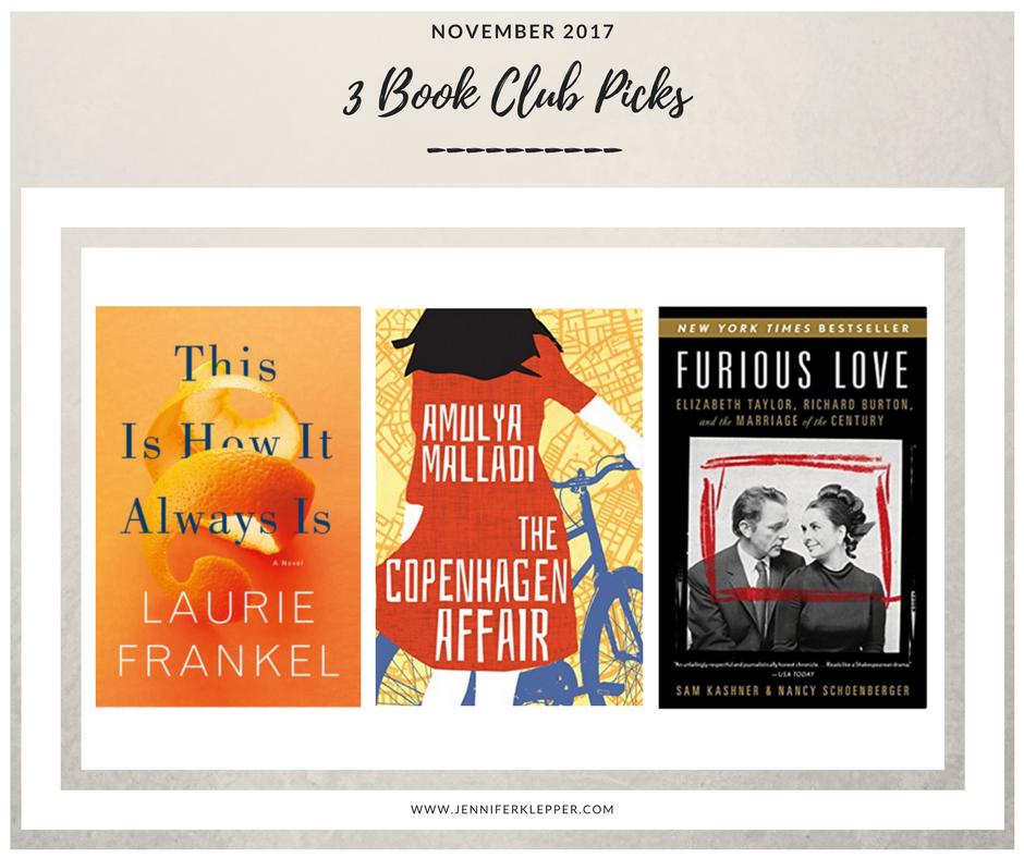 Book Club Picks November 2017