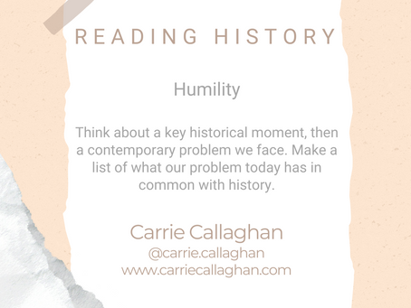#WIPMondays: Reading History, with Carrie Callaghan