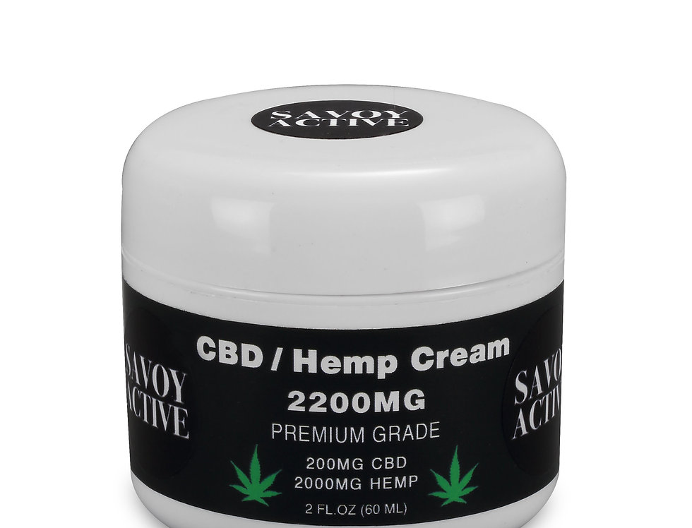 CBD / Hemp Seed Oil Cream 100% Natural - 200MG CBD - 2000MG Hemp - 2 FL.OZ